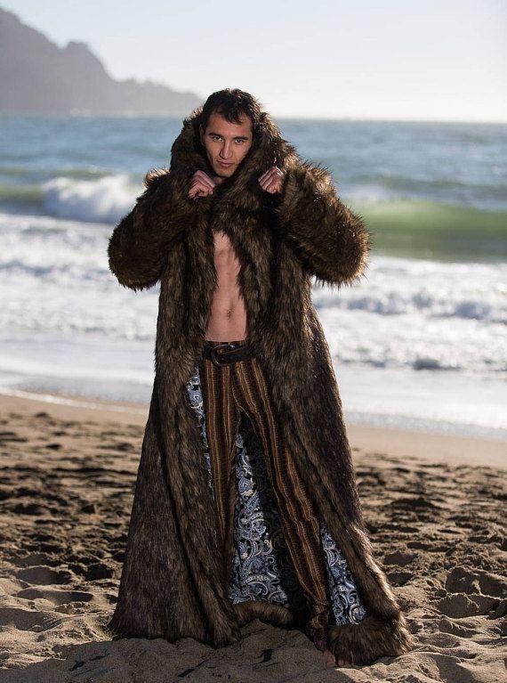 Faux fur coats for burning man