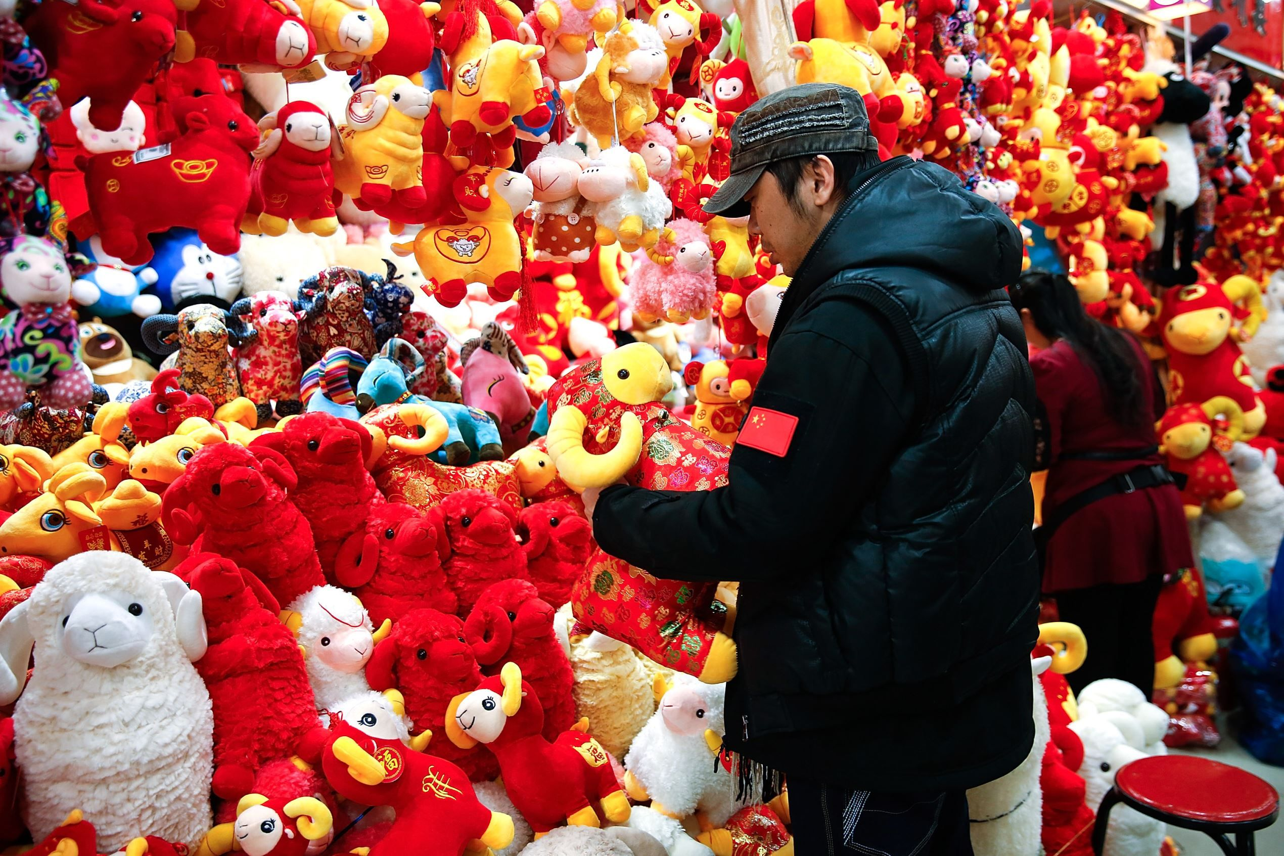 People Buying Decorations For The Upcoming Lunar New Year In