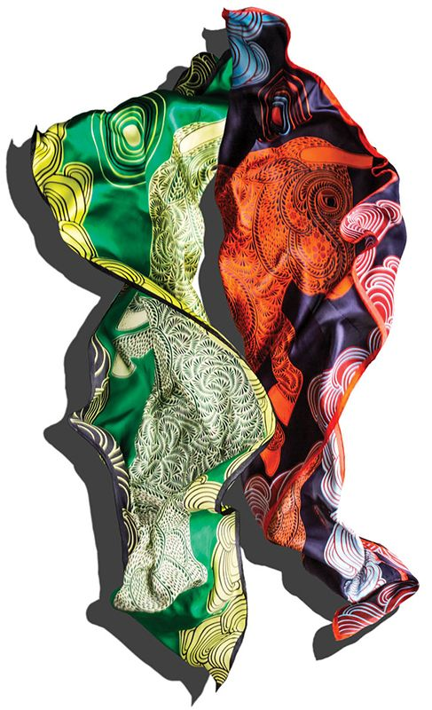 Local illustrator and graphic designer Hannah Cross recently debuted her collection of fine scarves, and we haven't been this dazzled by silk since Hermes opened at Buckhead Atlanta.