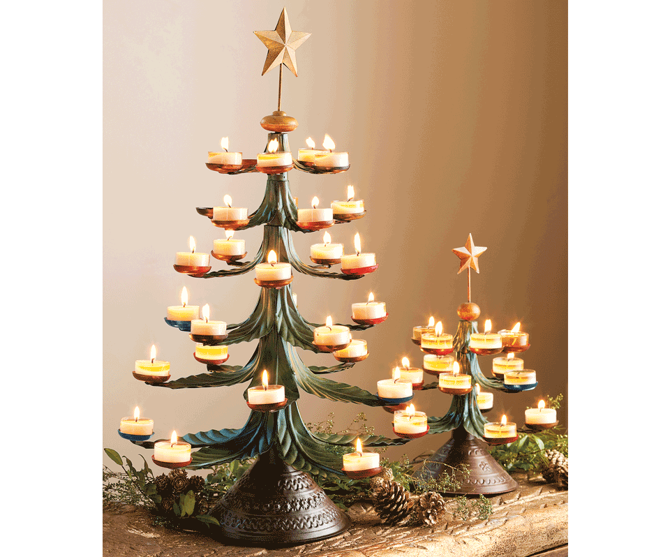 Tea Light Christmas Tree, Napastyle - Tea Light Christmas Tree, Napastyle Christmas Christmas
