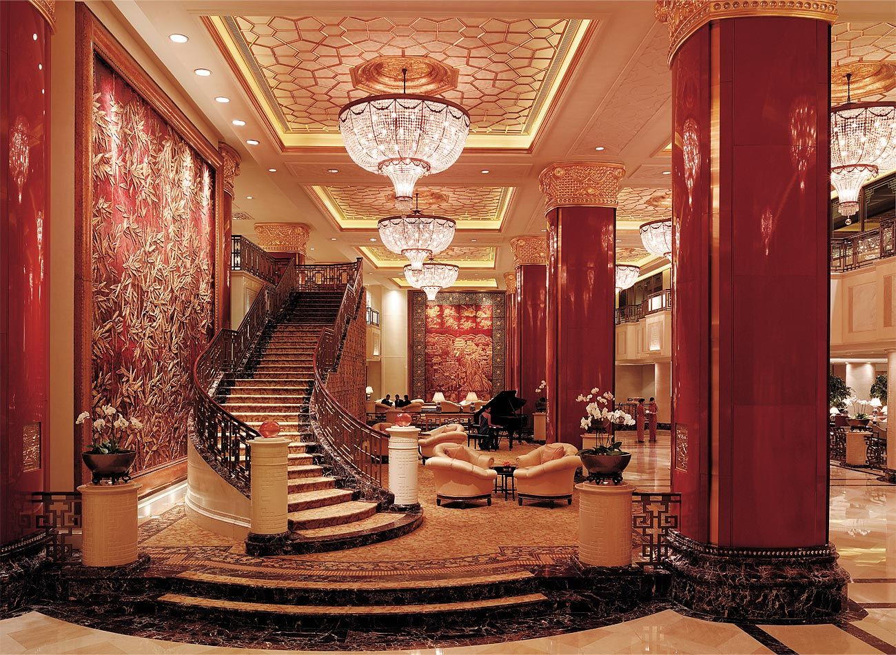 Lobby At 5 Star Hotel Shangri Las China World Beijing This Hotels Address Is No 1 Jianguomenwai Avenue CBD 100004 And Have 716 Rooms