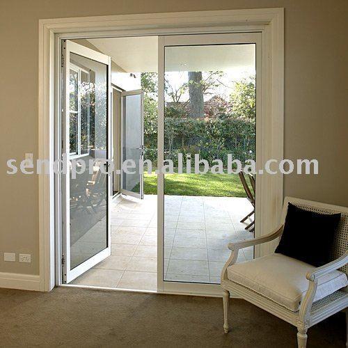 Puerta de aluminio franc s para balc n patio puerta for Modelos de puertas y ventanas de aluminio