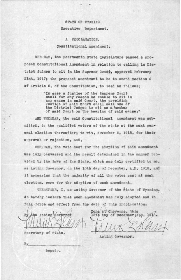This Day in Wyoming History: Happy Birthday Gov. Houx