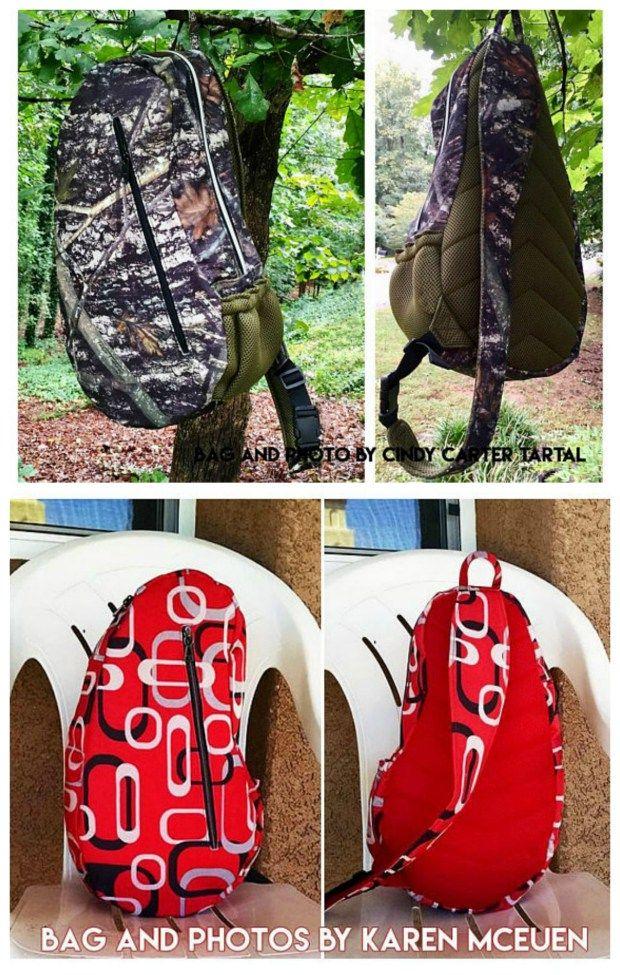 The teardrop sport crossbody backpack / sling bag | Patchwork ...