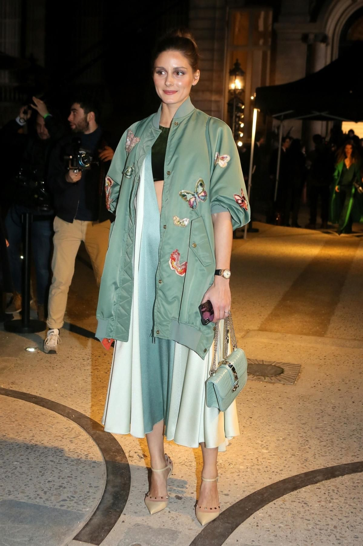 Olivia Palermo Wearing Valentino Lock Bag