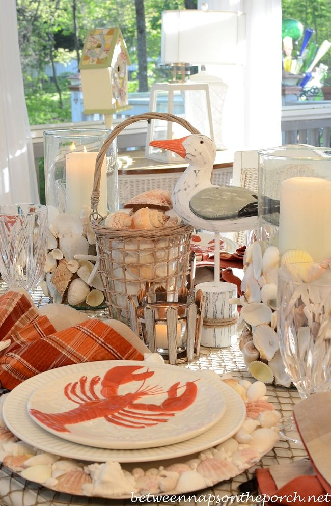 Dining With The Seagulls | Beach, Nautical table and Tablescapes