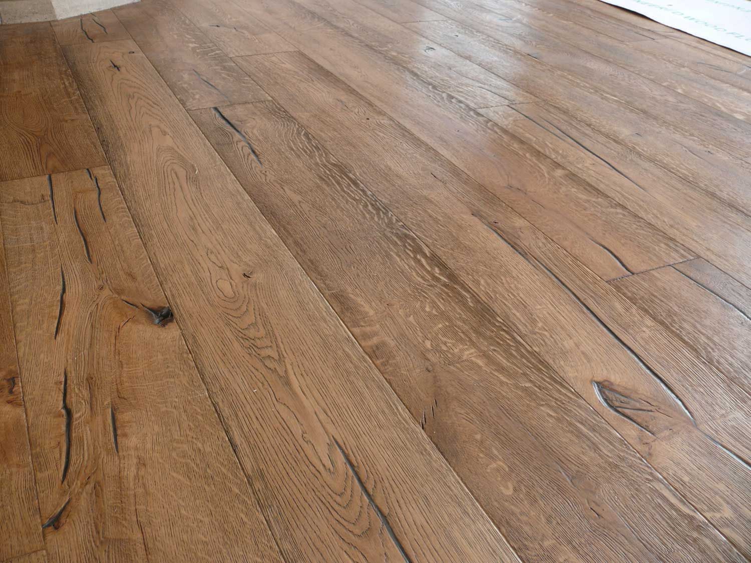 Unfinished Distressed Engineered Oak With Granwax Antiqued Coloured Hardwax Oil Applied After Wood Floors Wide Plank Types Of Wood Flooring Modern Wood Floors