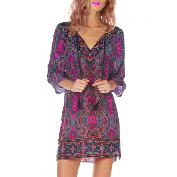 bright + fun printed dress