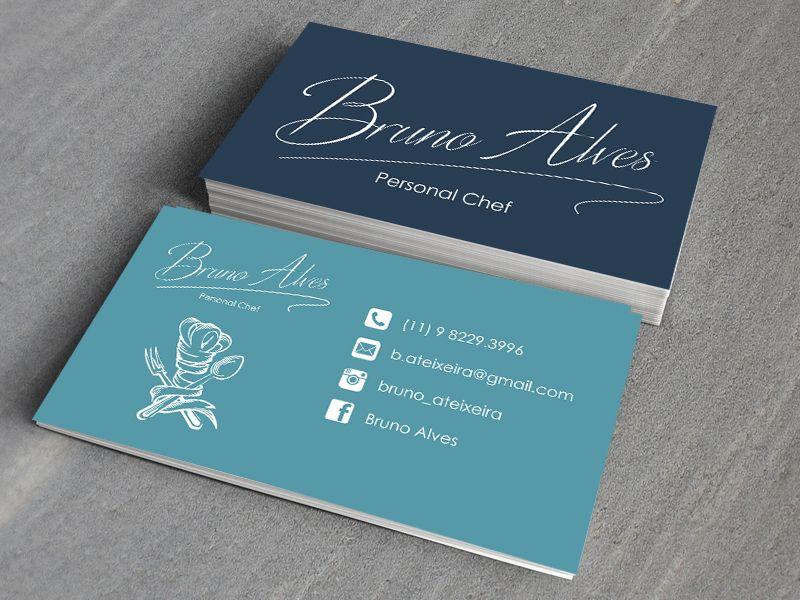 Cartão de Visitas Personal Chef | cartões de visita | Pinterest