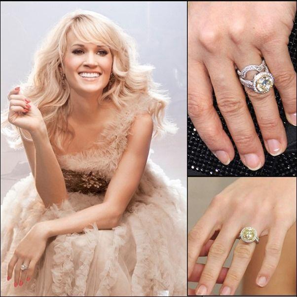 CarrieUnderwood engagement and wedding ring | Celebrity Style ...