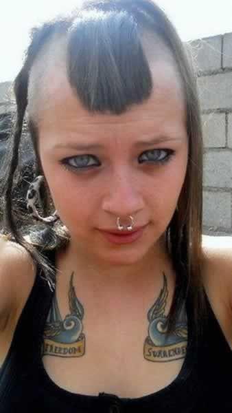 corte de pelo raro para mujer Dont do the hairdo Pinterest
