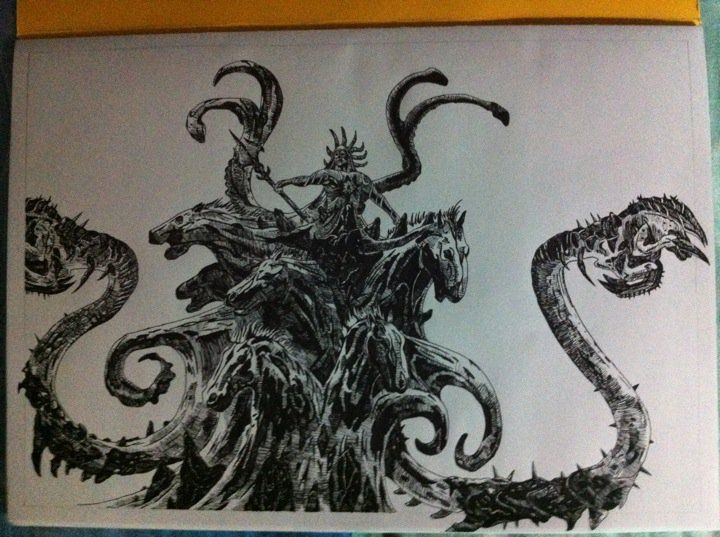 God Of War 3 Poseidon Drawing By Chriluke God Of War
