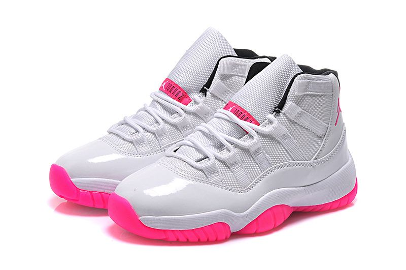 100% authentic 6063c b45a9 Womens Jordan 11 GS White Pink Online For Sale