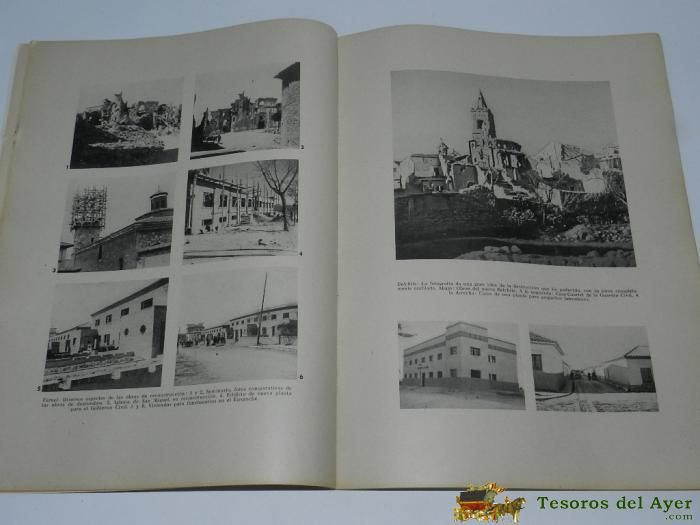REVISTA RECONSTRUCCION Nº 12 - DE LA DIRECCION DE REGIONES DEVASTADAS Y REPARACIONES, MAYO 1941 - MUCHAS FOTOGRAFIAS E ILUSTRACIONES DE BELCHITE, TERUEL, VILLANUEVA DE LA CAÑADA, BRUNETE, ETC...- 50 PAG. APROX. http://www.tesorosdelayer.com/esp/lote.php?id=97377