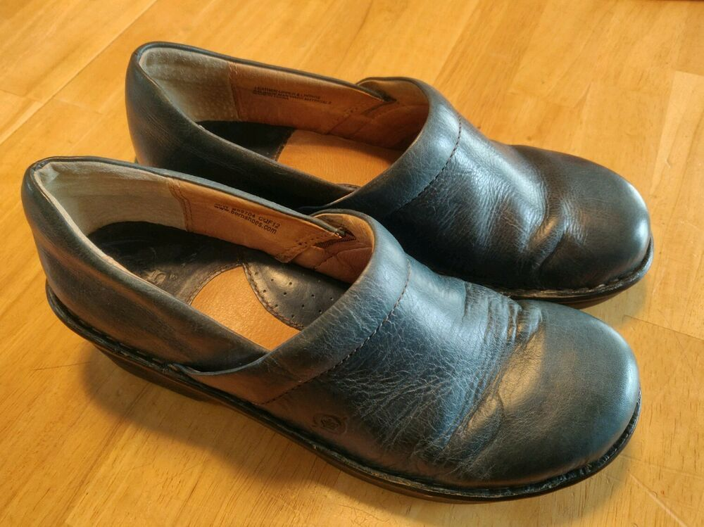 4e58b5b75ed1 BORN BOC NAVY WEDGE CLOGS SLIP ON NURSE WALKING SHOES Size 8 B69704  #fashion #