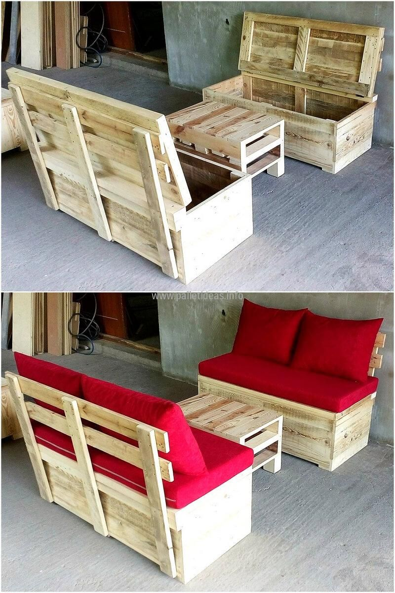 reclaimed wood pallet bench. Creative DIY Ideas With Reclaimed Wood Pallets Pallet Bench E