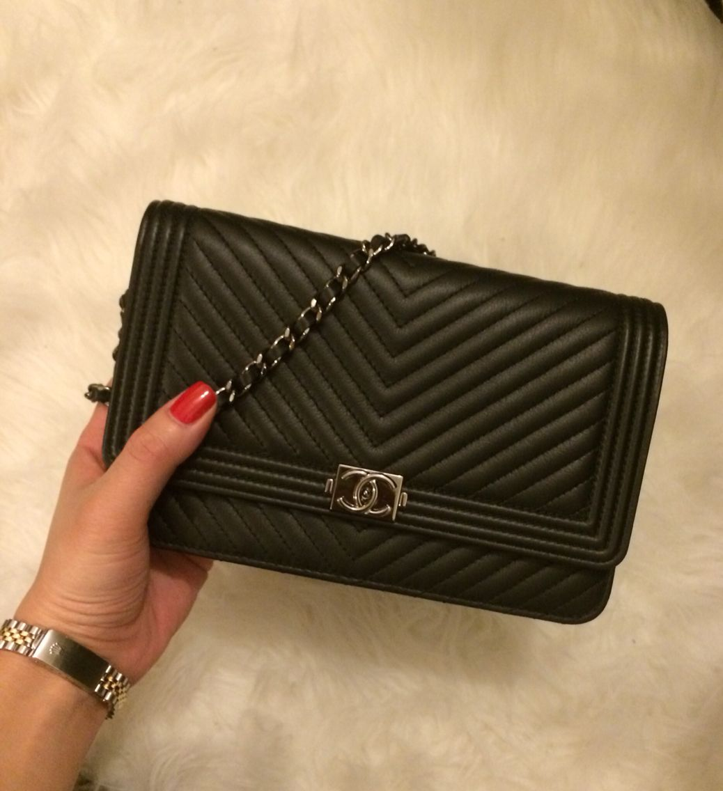Chanel Boy Chevron Woc Handbag Dreams Pinterest