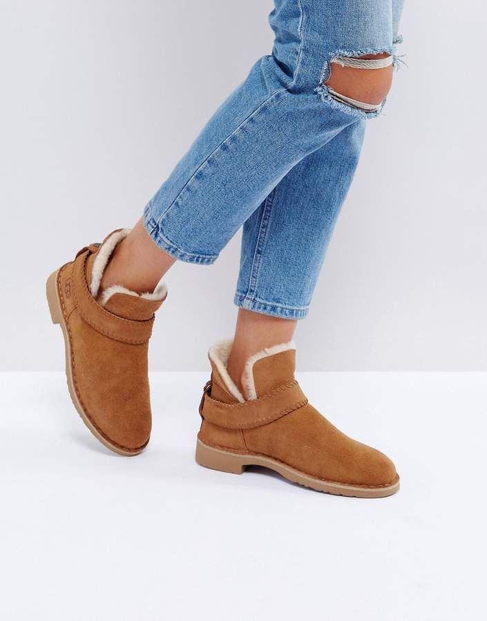 This pair certainly looks more modern style and can suit many occasions - Ugg Mckay Strap Ankle Boots #workshoes #ugg #boots #afflink