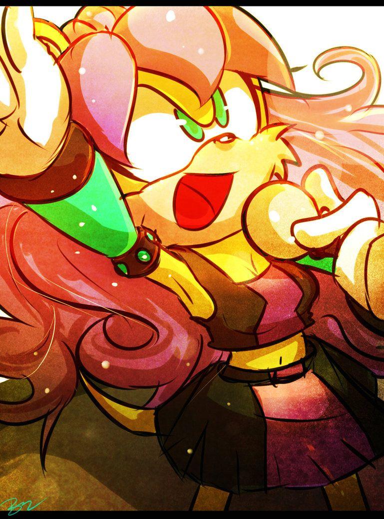 Mina Mongoose! by Omiza on DeviantArt Sonic fan art