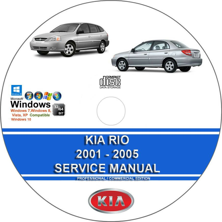Advertisement Ebay Kia Rio 2001 2002 2003 2004 2005 Service Repair Manual On Dvd Kia Kia Sorento