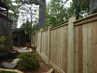 Pressure Treated Pine Privacy Modern Fence Fence Desert Homes