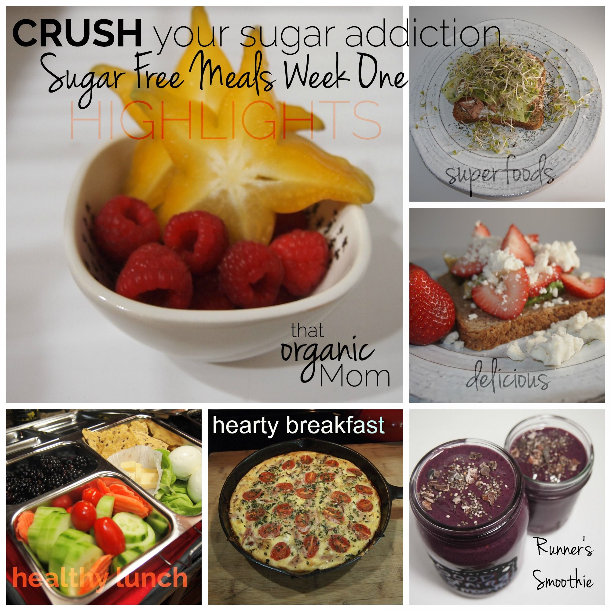 Highlights of our first week Crushing the Sugar Addiction. Looking forward to week 2! yessssssssssssss #sugarfree #sugaraddiction #sugarcravings #sugarbuster