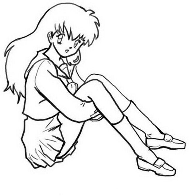 Manga Ausmalbilder. Malvorlagen Zeichnung Druckbare Nº 3