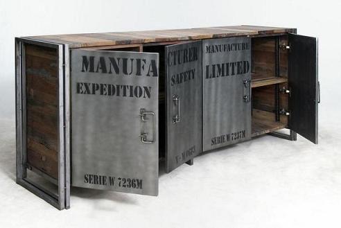 """Buffet """"Samudra"""", Teck Recyclé / Métal (3 Versions) - Architeck"""