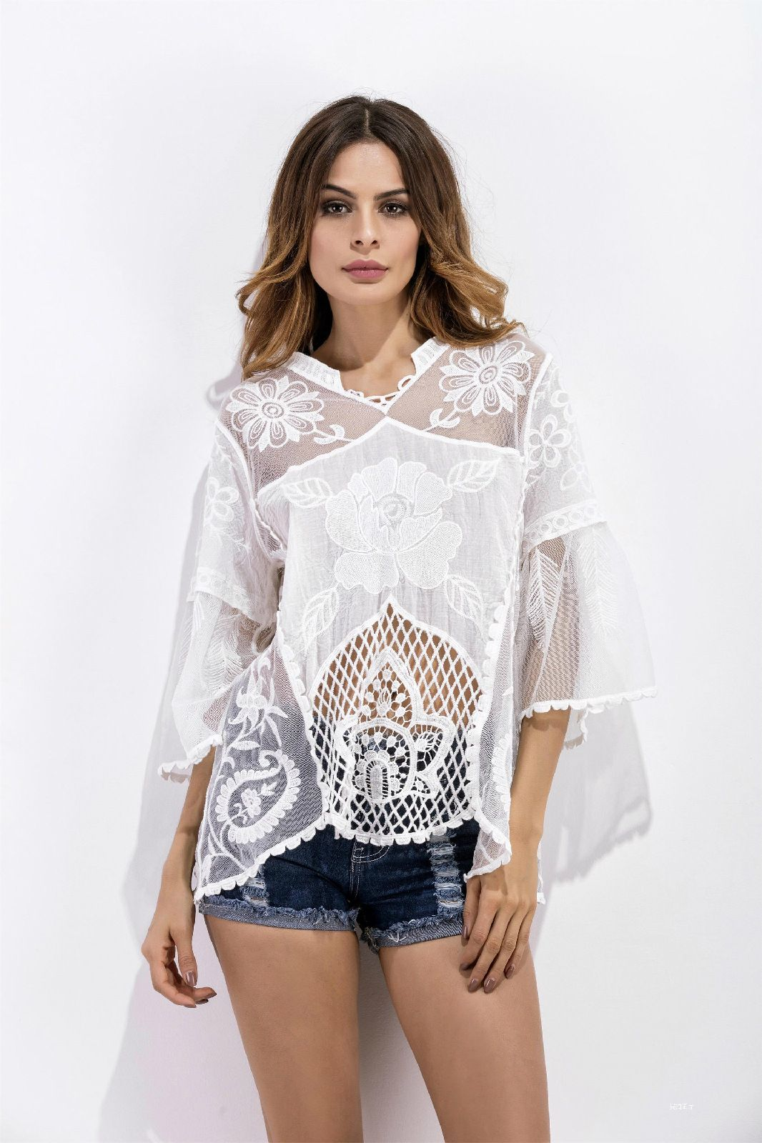 Sexy gauze tops for women