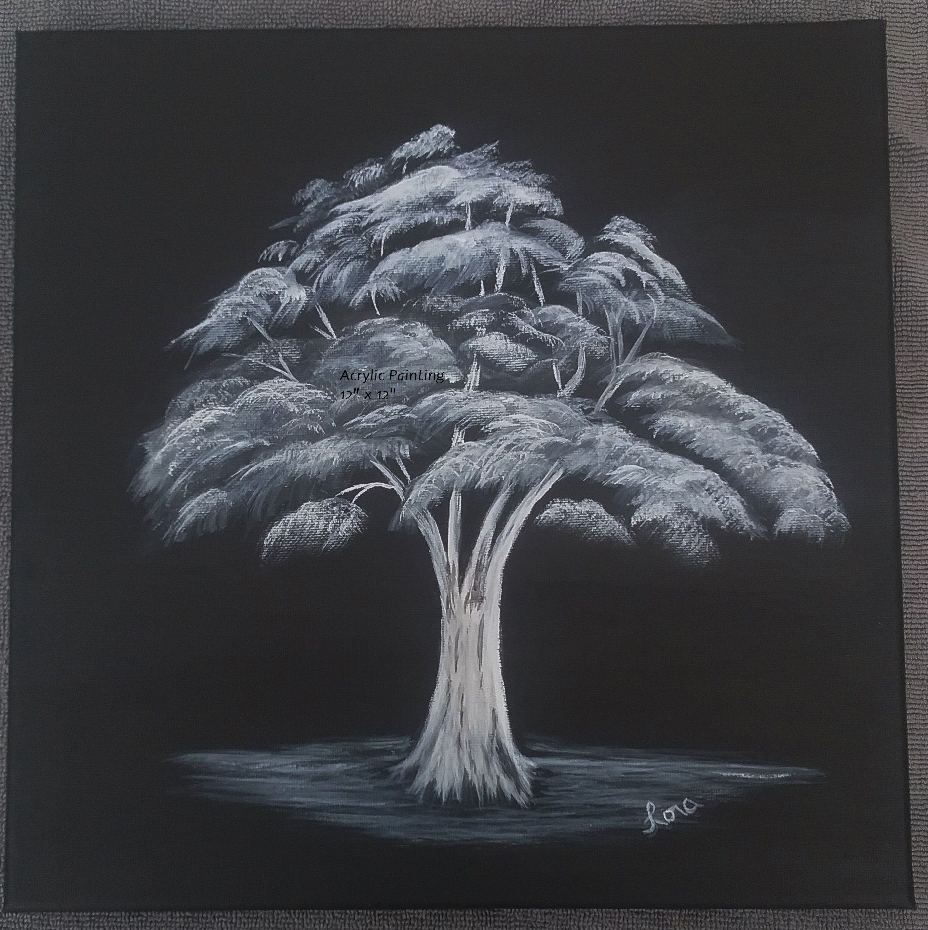 Acrylic Black And White Canvas Painting Original Acrylic Etsy Black Background Painting Black And White Canvas Black Canvas Paintings