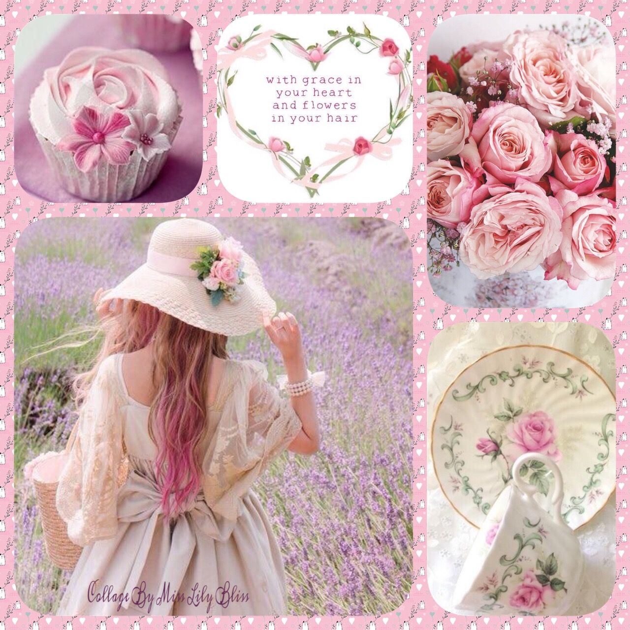 Collage By Miss Lily Bliss Pink, Tickled pink, Pretty in