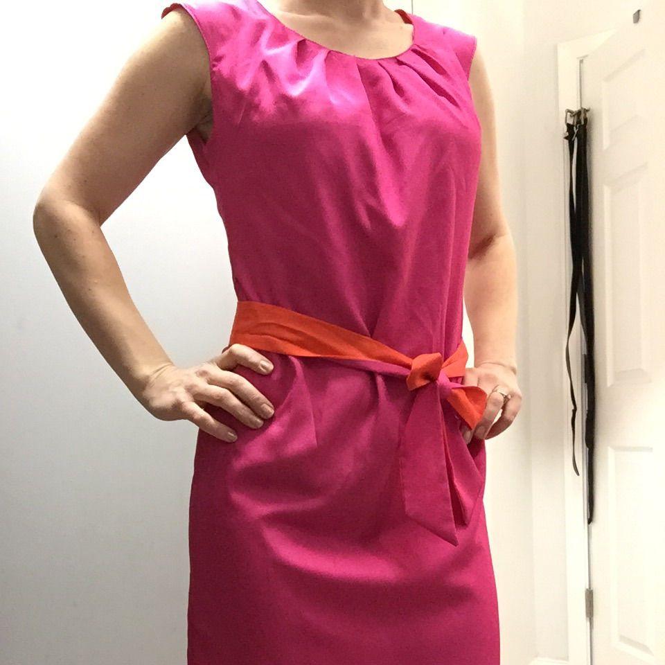 Hot pink and orange dress  Sharagano Reversible Dress  Products