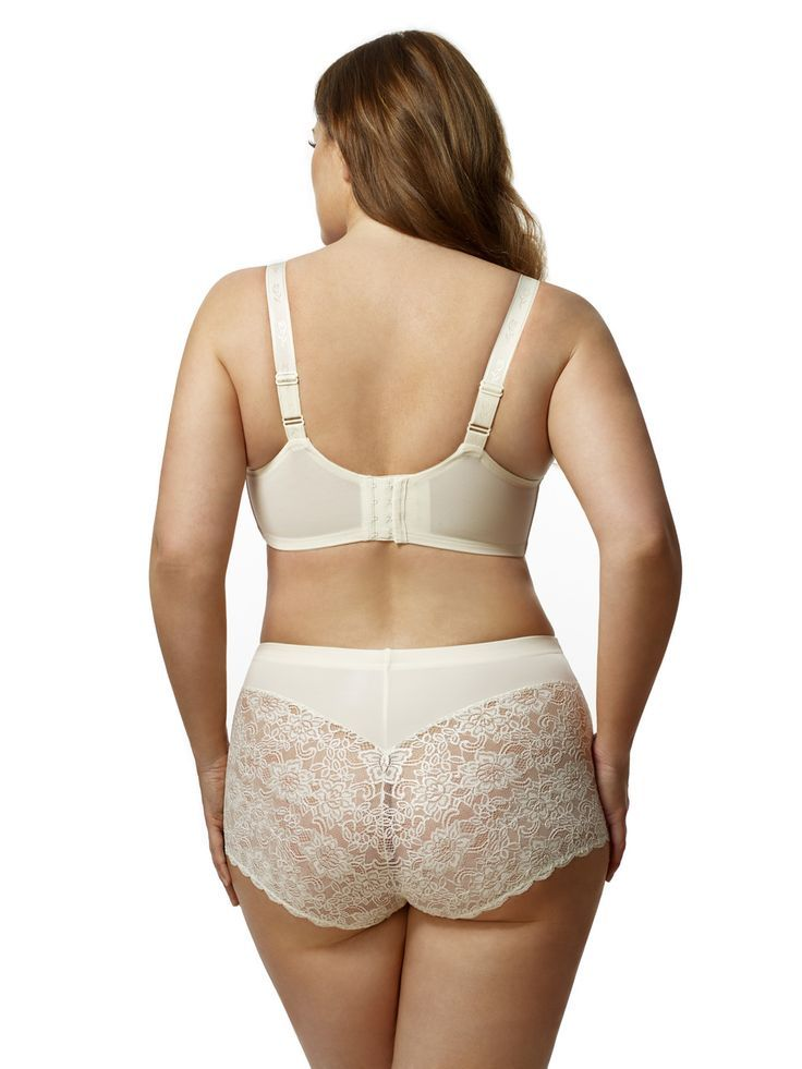 efa5a46754c Elila  Stretch Lace Soft Cup Bra in ivory