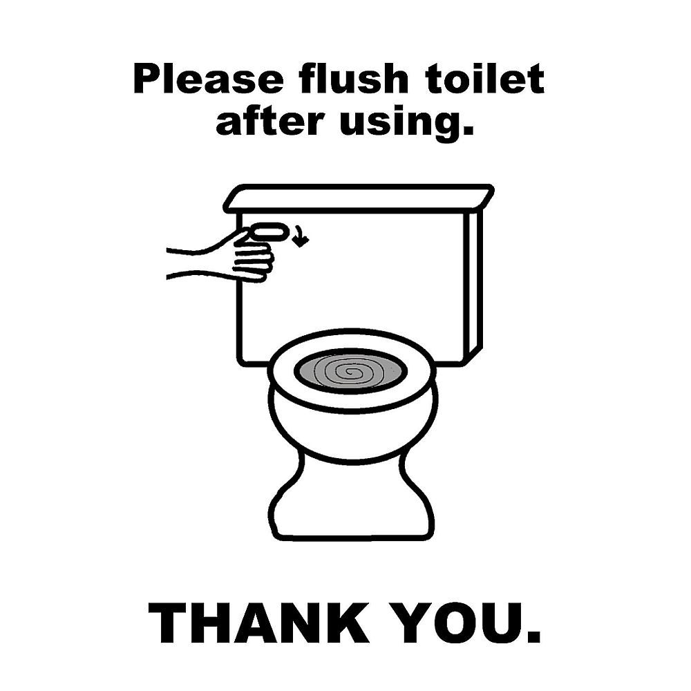 Please Flush Toilet Sign Black And White Mayda Mart Flush Toilet Toilet Sign Toilet