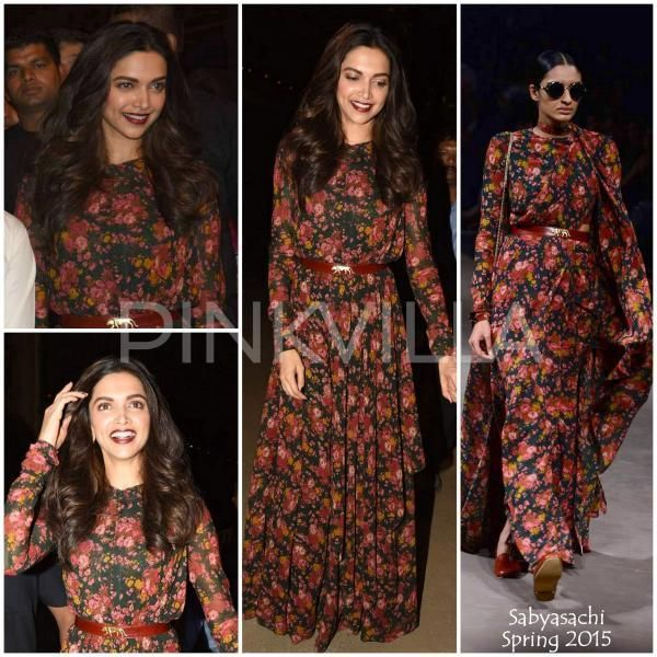 Fashion Faceoff Anushka Sharma Or Deepika Padukone Who Wore The Floral High Neck Maxi Dress Better Maxi Dress Fashion Celebrity Outfits