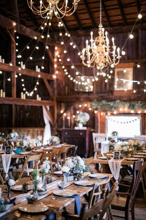 Elegant Rustic Barn Wedding Reception Ideas Himisspuff Indoor 4
