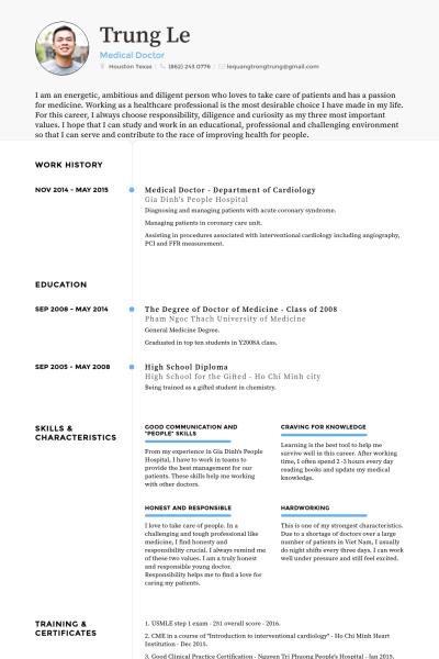 Cv Template Medical Doctor Cvtemplate Doctor Medical Template Doctor Medical Medical Resume Skills