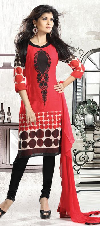 Awesome colour combination of black,grey,red and maroon.....complexion of this salwar-kameez is superb....order now to buy  Available at-> http://www.indianweddingsaree.com/SalwarProduct/87451.html
