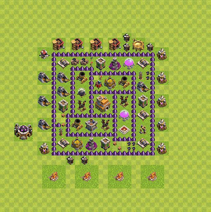layouts de para clash of clans clash of clans dicas - Layout Cv 4 Guerra