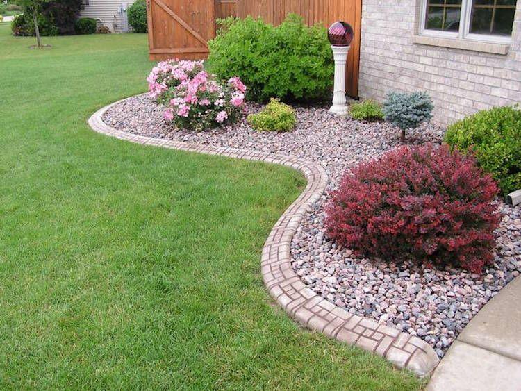 bordure jardin b ton d coratif parterre arbustes modernyardflowerbeds front yard pinterest. Black Bedroom Furniture Sets. Home Design Ideas