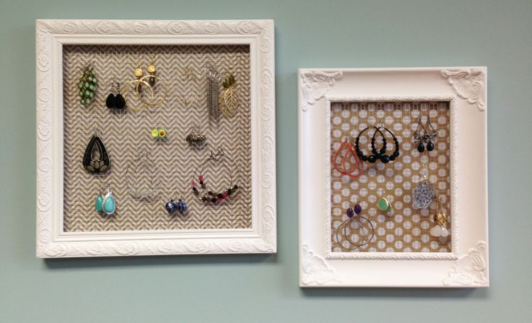 14 Ways To Repurpose Broken Household Items Diy Jewelry Frame