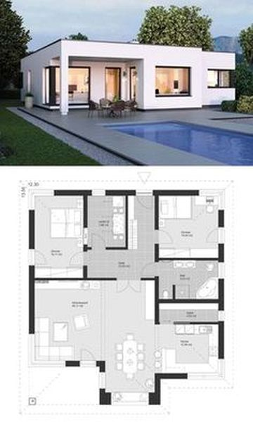 Small House Design Tricks With One Floor L Shaped House Plans With House Of Kolor Paint Quality Bungalow House Plans Modern Bungalow House Architecture Design