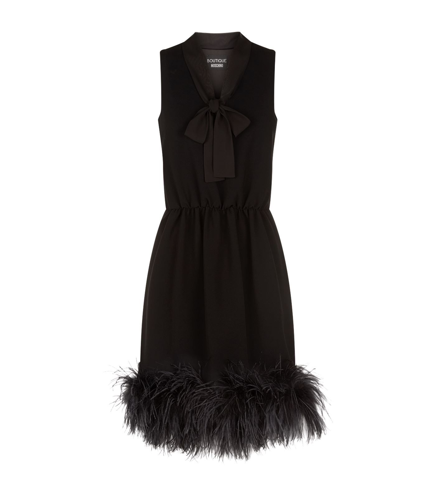 Boutique Moschino Ostrich Feather Trim Dress Harrods Com Dresses Necklines For Dresses Elegant Dresses [ 1592 x 1400 Pixel ]