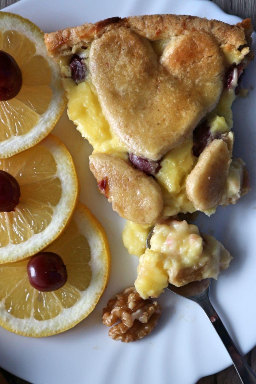 Zarter Kuchen Zum Valentinstag Mit Kirschen Sehr Leckeres Rezept