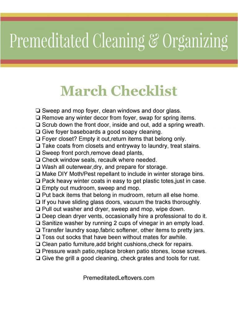 a6489a78757 Get ready for spring with this March Cleaning Checklist! It will ...
