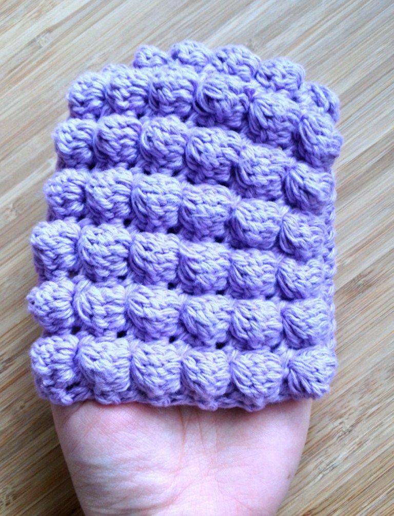 Bobble Stitch Dish Scrubby Mitt Bobble Stitch Dishes And Stitch
