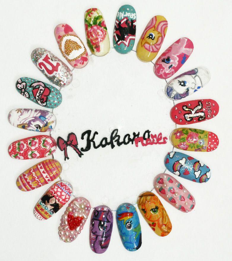 My Little Pony inspired nails by Kokoro Nails! <3   my little pony ...