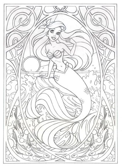 Dibujos para colorear   Disney | Dibujos | Mermaid coloring pages