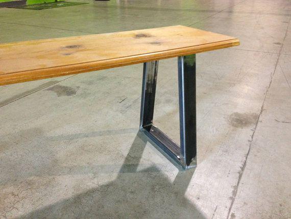 1x2 Heavy Duty Steel Bench Legs Etsy Metal Bench Furniture Legs Steel Bench