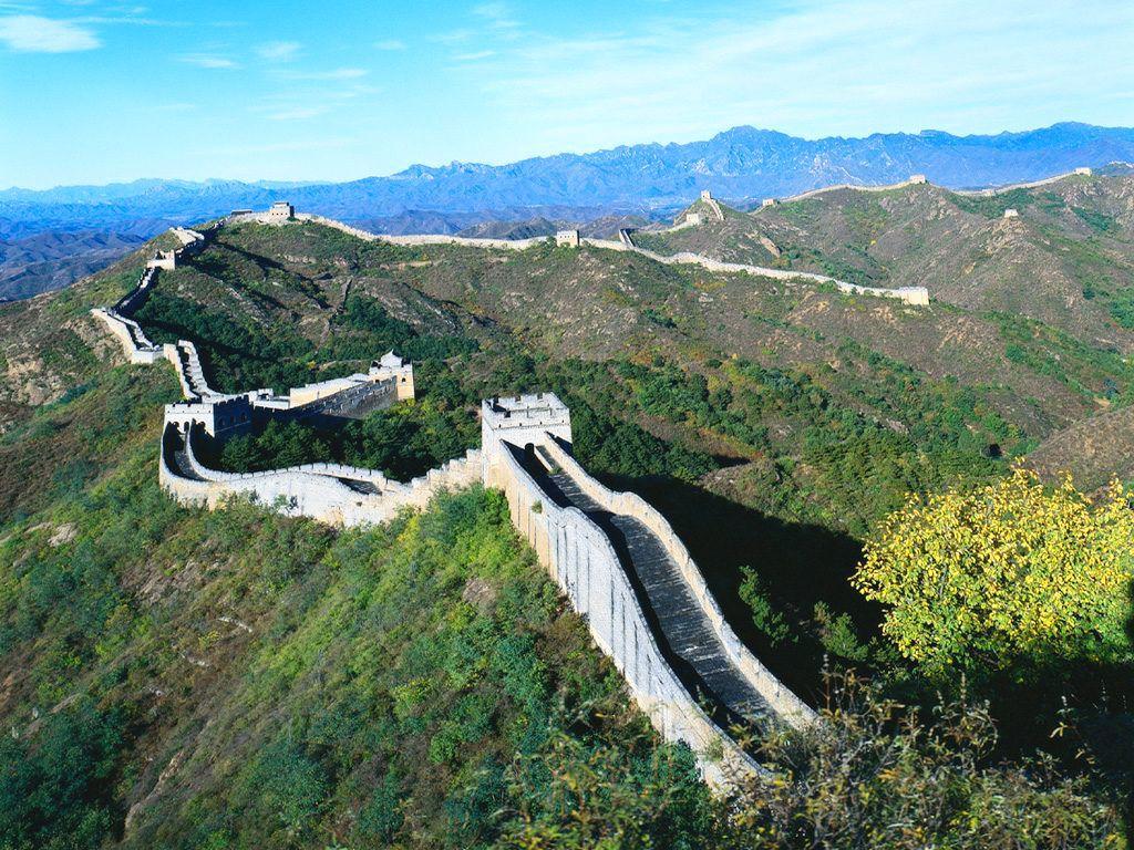 Mur Chiński widziany z lotu ptaka